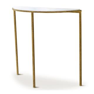 Photo of Daphne Hollywood Regency Demilune Console Table