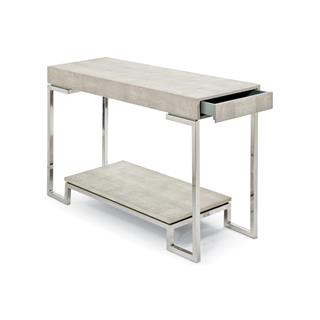 Photo of Millicent Coastal Beach Faux Shagreen Console Table