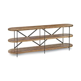Photo of Donovan Rustic Lodge 3-Tier Console Table