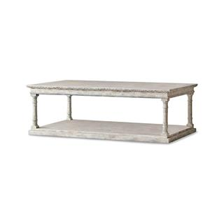 Gustav French Country Weathered Wood Coffee Table