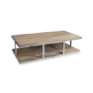 Photo of Zanuso Industrial Rectangular Coffee Table Reclaimed Elm