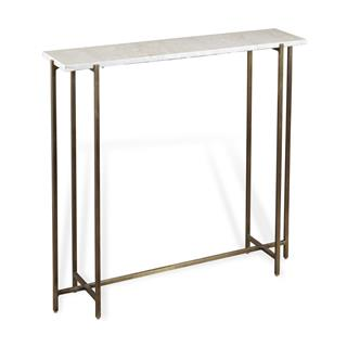 Photo of Zenith Marble Console Table with Brass Base