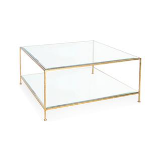 Photo of Cabot Hollywood Regency Glass Coffee Table