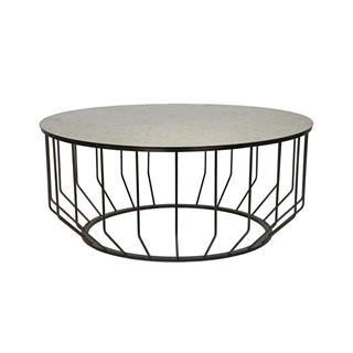 Photo of Sandford Industrial Loft Round Metal Coffee Table