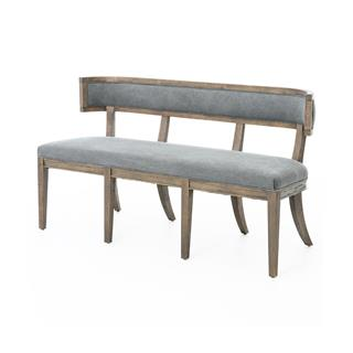 Livingston Curved Back Dining Bench