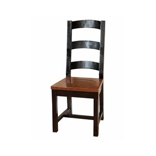 African Dusk & Espresso Reclaimed Pine Ladder Back Chair