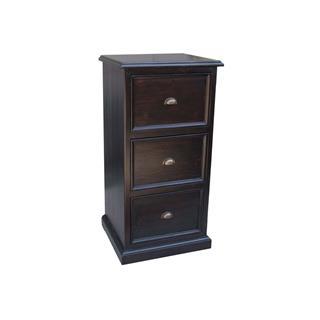 Lifestyle Espresso Reclaimed Pine File Cabinet