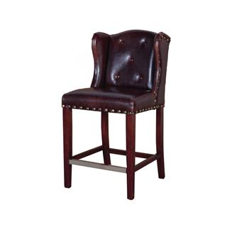 Babar Leather Rustic Counter Stool
