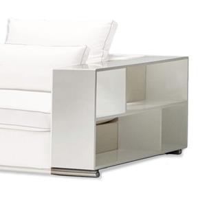 Gamo White Wood Bookshelf / Arm Rest