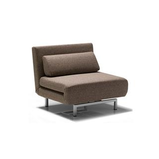 Photo of Iso Swivel Sleeper Transforming Chair Brown Fabric