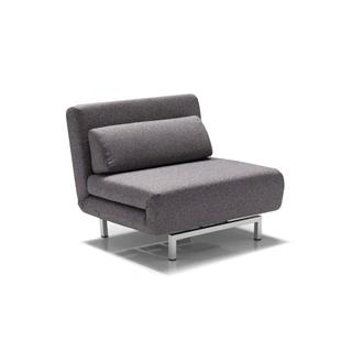 Photo of Iso Swivel Sleeper Transforming Chair Grey Fabric