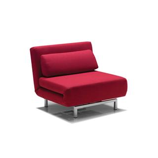 Photo of Iso Swivel Sleeper Transforming Chair Red Fabric
