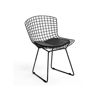 Photo of Black Bertoia Dining Chair with Pad