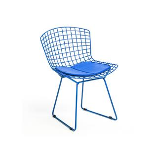 Blue Bertoia Dining Chair with Pad