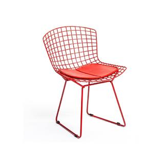 Red Bertoia Dining Chair with Pad