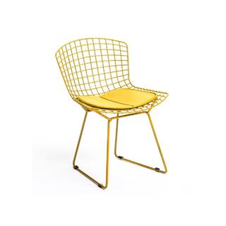 Yellow Bertoia Dining Chair with Pad