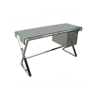 Photo of Dream Bend Glass Desk with Storage