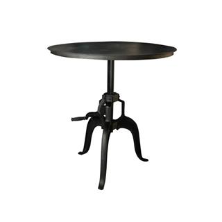 Black Adjustable Crank Metal Table