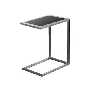 Photo of Alfa Black Glass End Table