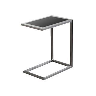 Alfa Black Glass End Table