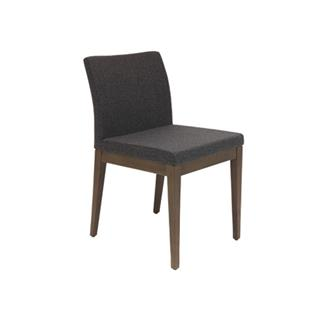 Photo of Aria Wood Dining Chair with Wool Seat in Dark Gray