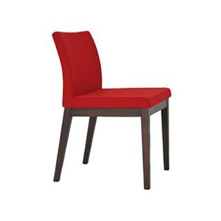 Photo of Aria Wood Dining Chair with Wool Seat in Crimson Red