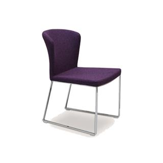 Photo of Capri Purple Wool Dining Chair Sled Legs