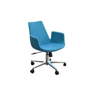 Photo of Eiffel Arm Office Chair in Turquoise Camira Wool