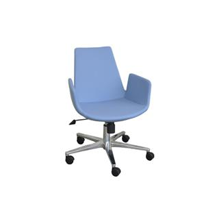 Eiffel Contemporary Office Chair in Blue Leatherette
