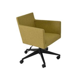 Harput Wool Mustard Office Chair