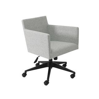 Harput Contemporary Grey Office Chair Wool