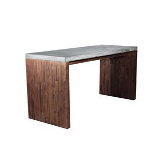 Madrid Industrial Concrete Top Desk Wood Legs