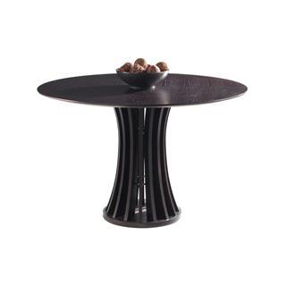 Aziz Espresso Round Dining Table