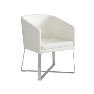 Benson White Tub Chair for Dining