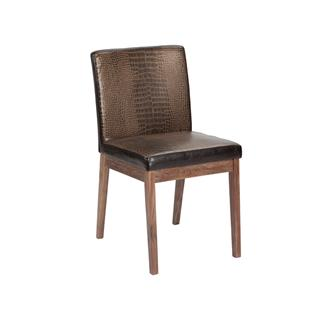 Photo of Branson Crocodile Dining Chair with Reclaimed Wood Legs