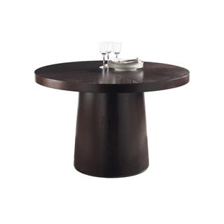 Cameo Round Wood Dining Table with Drum Base