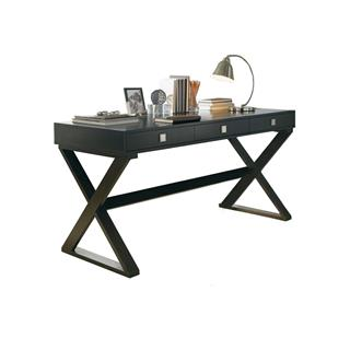 Emilio Espresso Wood Narrow Desk