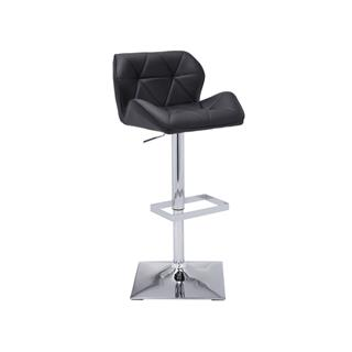 Boulton Adjustable Barstool Black Leather
