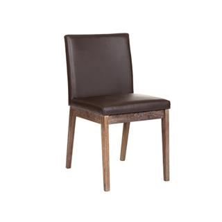 Photo of Branson Brown Dining Chair with Reclaimed Wood Legs
