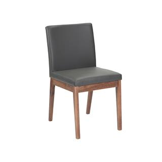 Photo of Branson Gray Dining Chair with Reclaimed Wood Legs