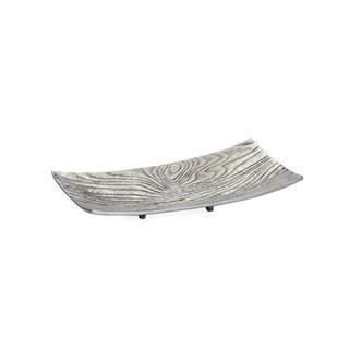 Aluminum Bark Rectangle Platter