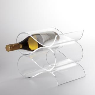 Acrylic Wave 4 Bottle Wine Rack