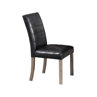 Bellwood Dark Brown Leather Side Chair