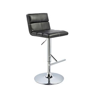 Photo of Bolo Adjustable Stool Horizontal Tufting in Black