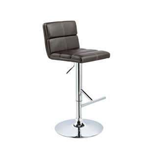 Photo of Bolo Adjustable Stool Horizontal Tufting in Brown