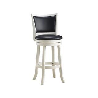 Photo of Cabot White Leather Swivel Counter Stool