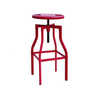 Photo of Burton Adjustable Metal Stool Red Powder Coating