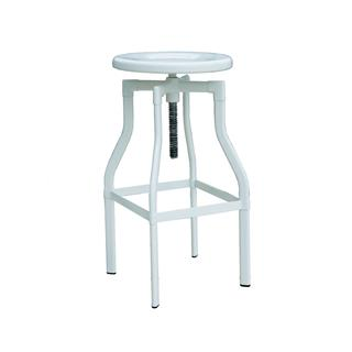 Photo of Burton Adjustable Metal Stool White Powder Coating