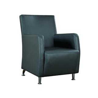 Photo of Brock Accent Leather Chair Grey