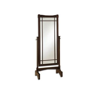 Kingsway Wood Cheval Mirror Transitional Style